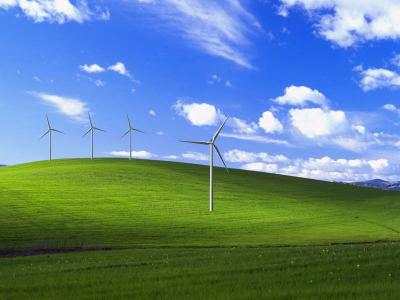 a parody of the MS background, improved for wind energy types