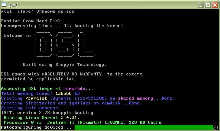 DSL running on top of Windows XP