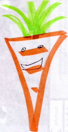 Zoë's Happy Carrot Drawing
