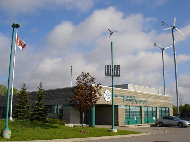 OEC office, with turbines