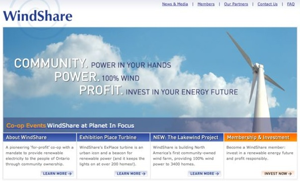 new windshare website