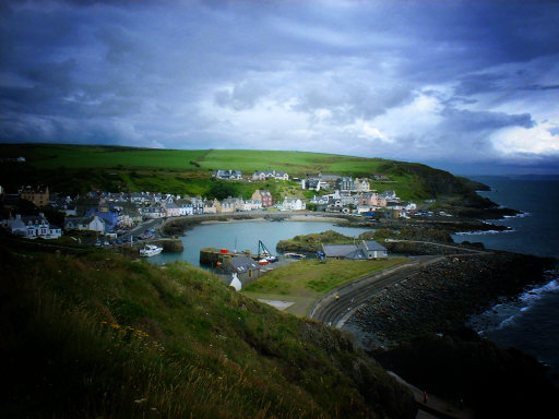 Portpatrick, with the Gimp faux lomo effect