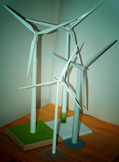 My little wind farm: GE, Enercon, Vestas, Siemens
