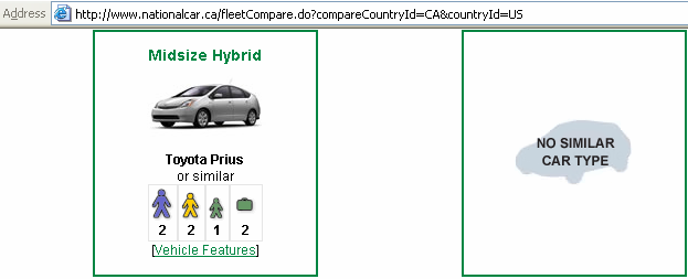 no hybrids for canada