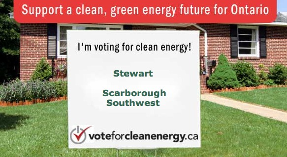 vote for clean energy in ontario