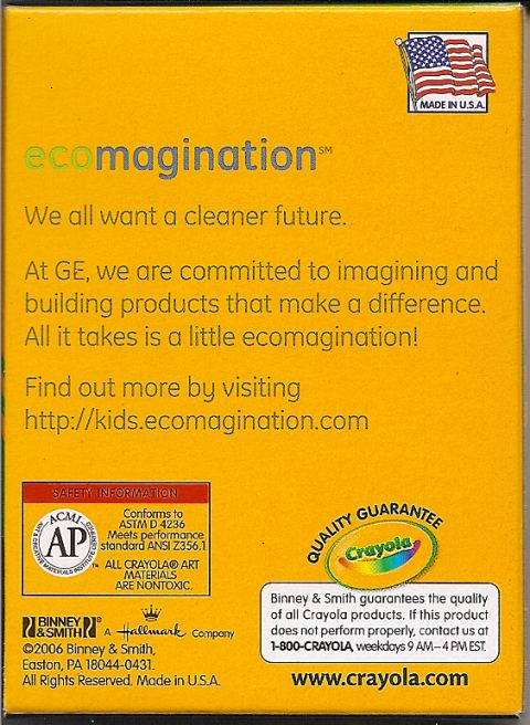 ge ecomagination crayola