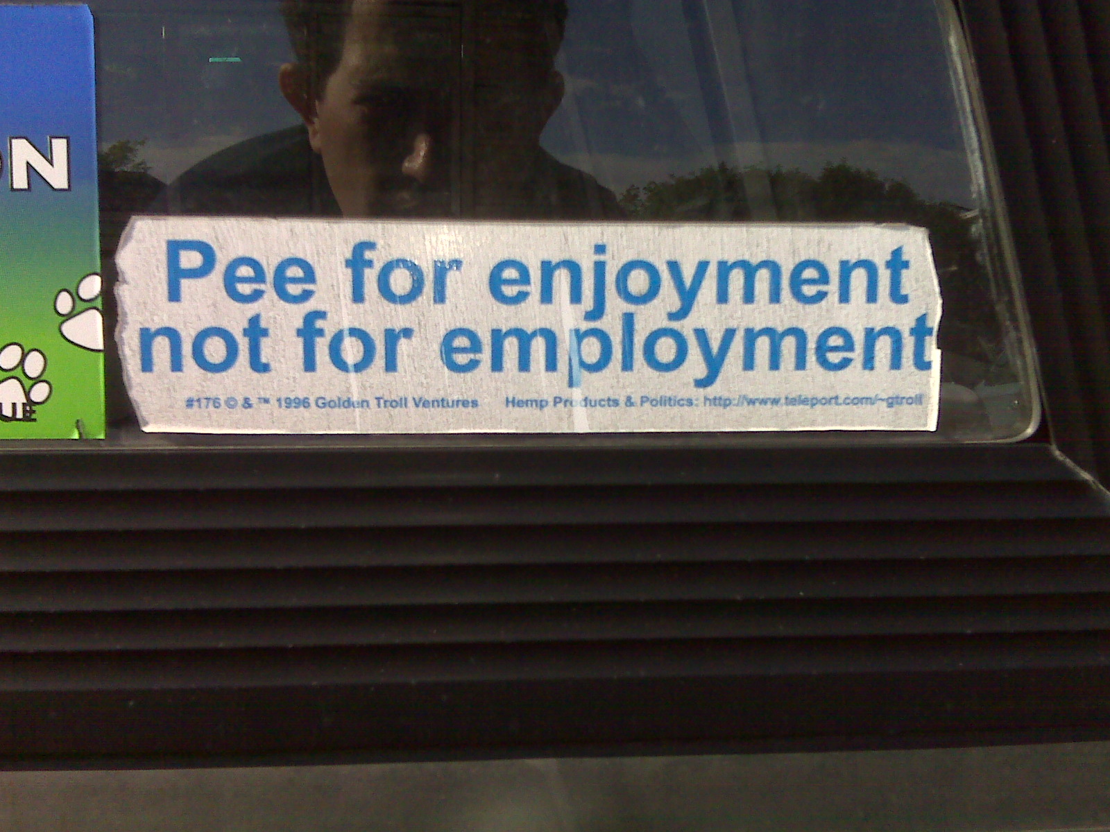 pee for enjoyment not for employment