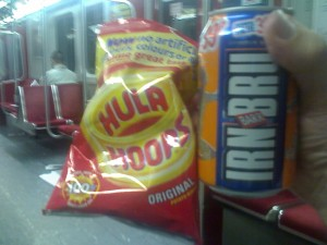 hula hoops and irn bru