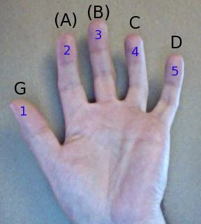 a hand, in the key of G