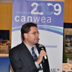 CanWEA President Robert Hornung opens the event