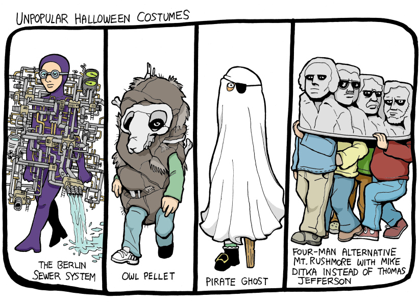 unpopular halloween costumes, from Subnormality