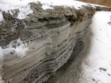 frozen sand strata
