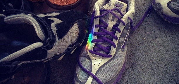 Rainbow on the shoe pile
