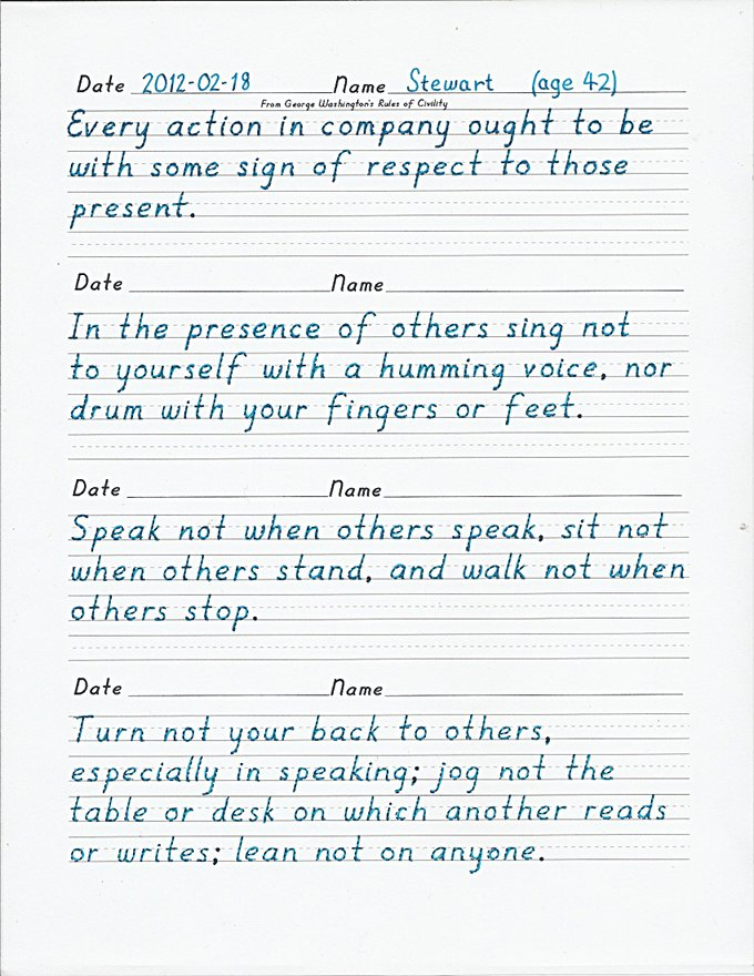 legible handwriting