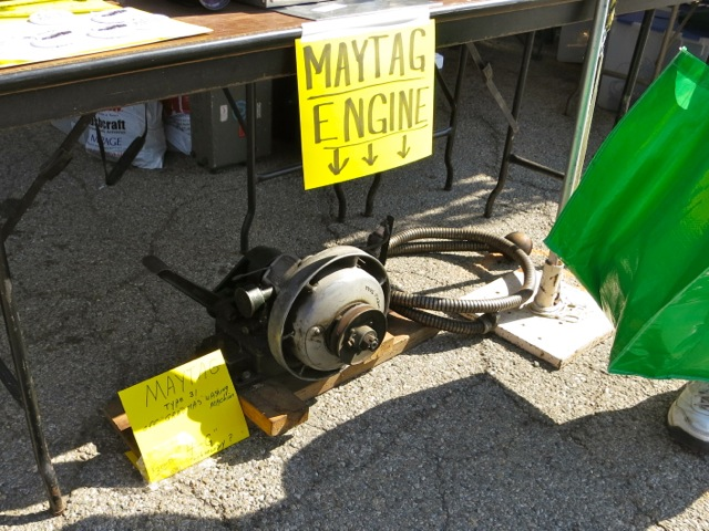 petrol engine from a Maytag washing machine