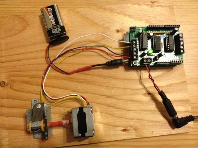 ... as played on this: — an Arduino driving a stepper motor driving a Sankyo musical ...