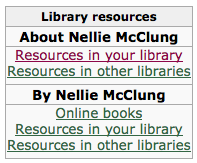 Nellie McClung: Library Resources
