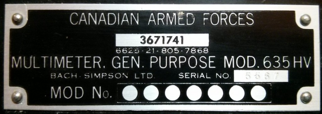 Simpson 635 Armed Forces Identity Plate