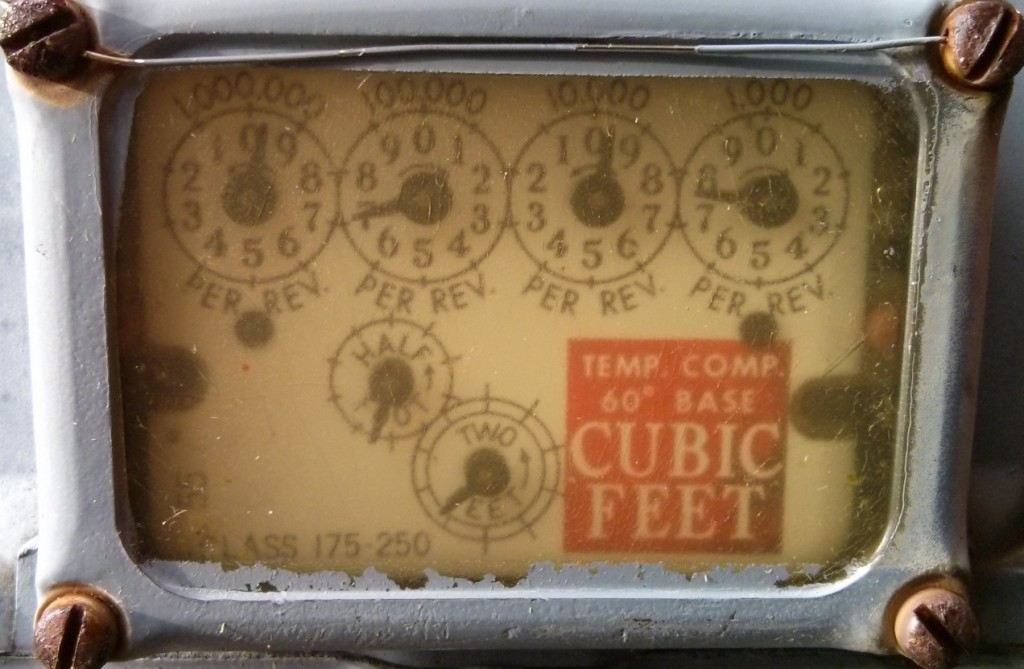 gas meter (but not Scarlett O'Gasmeter)