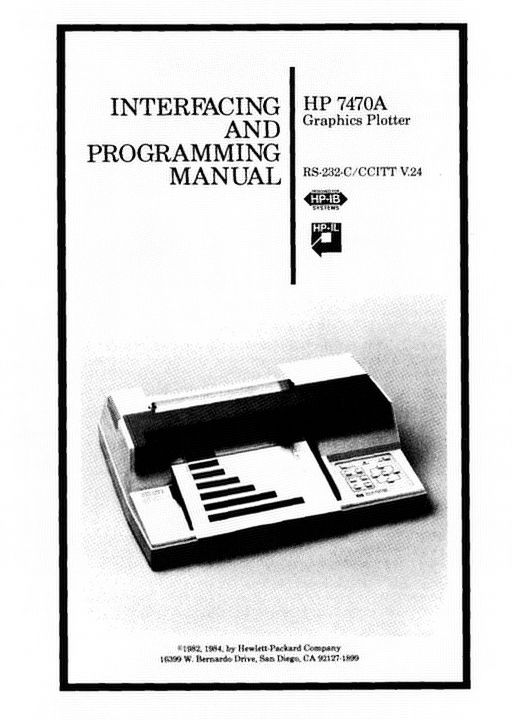 HP-7470A_Graphics_Plotter-Interfacing_and_Programming_Manual