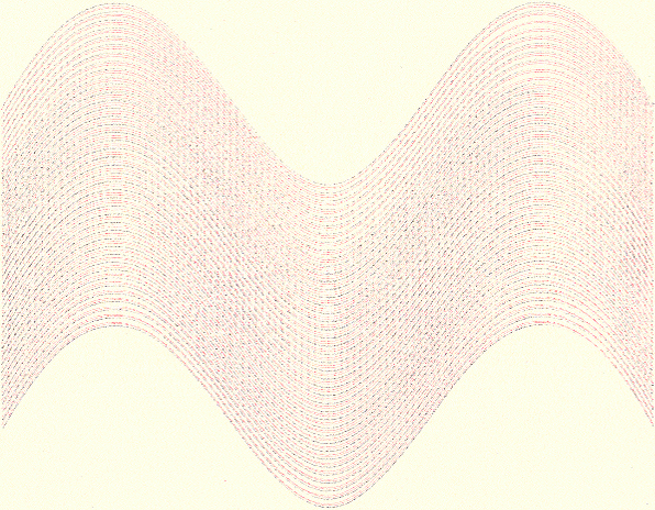 Double-plotted nested bézier curves