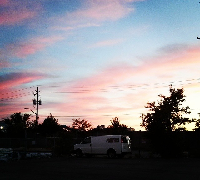 Sunset on Comstock: metal recycling and bubblegum