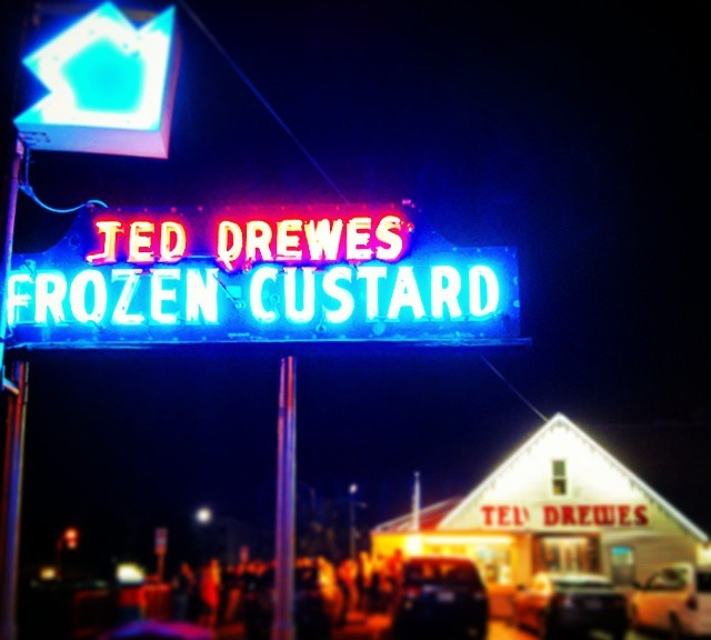 All the St Louis faithful worship at Ted Drewes