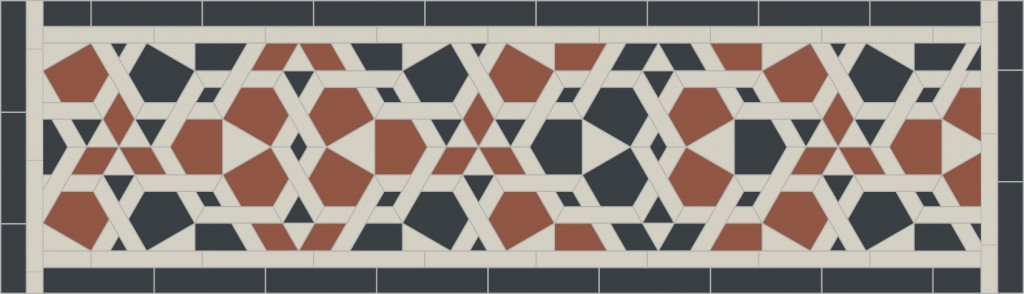 Excerpt of mosaic pattern from 16th C CE fountain from Eqypt in the Aga Khan Museum