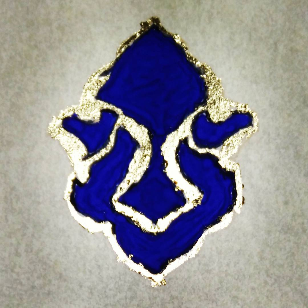 My first attempt at gilding turned out like an ultramarine Clement Freud