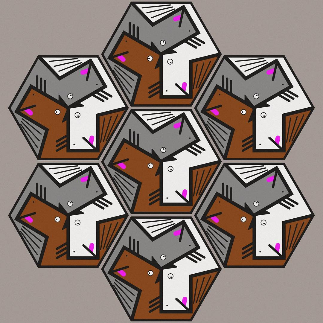 Drawn by Maurits Escher's idiot brother Earl