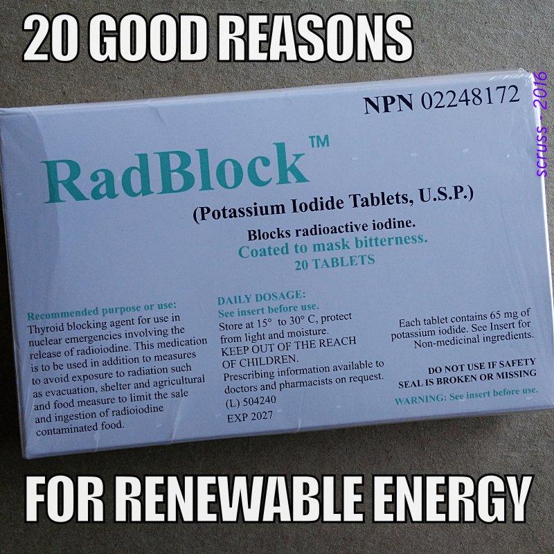 contains 20 Potassium Iodide tablets