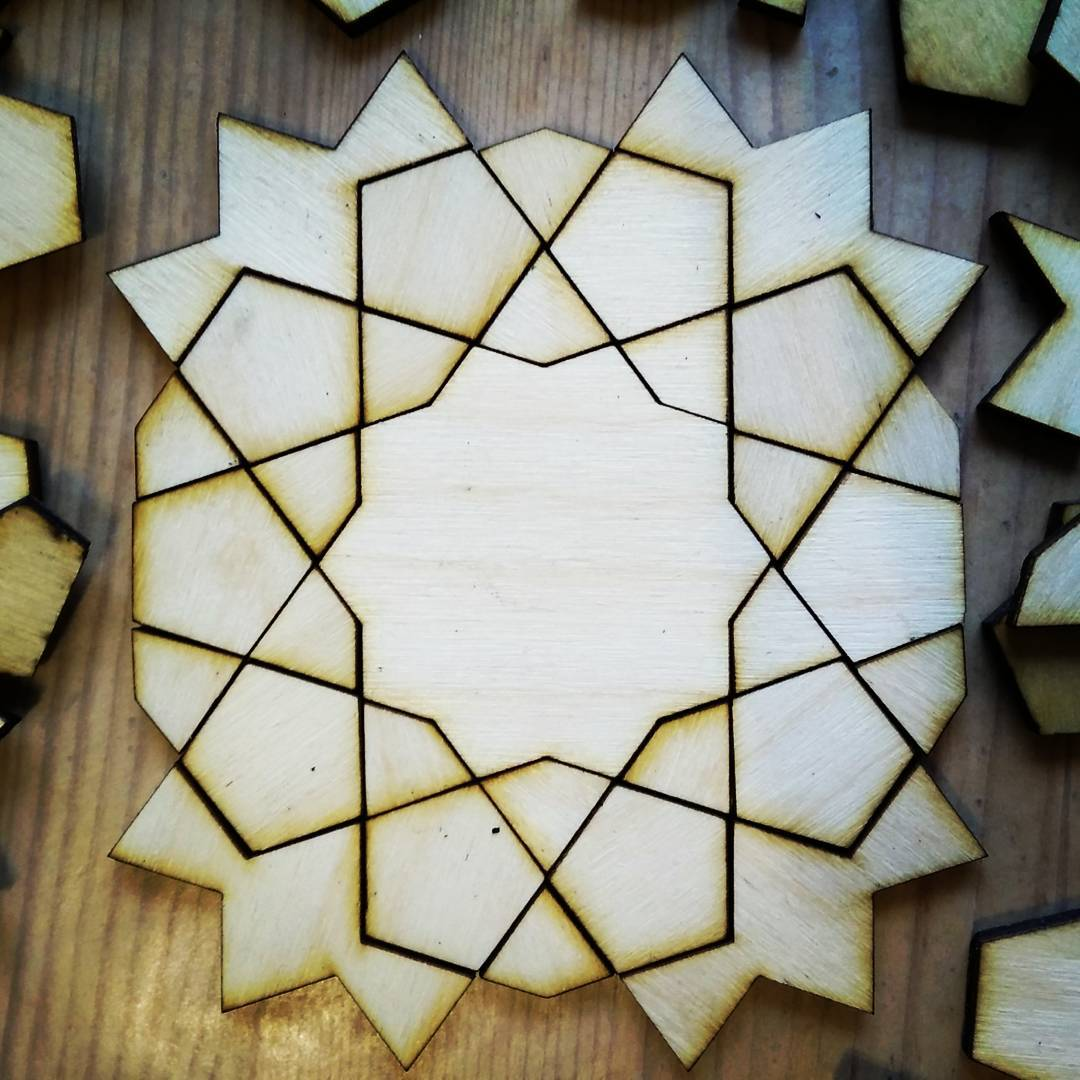 Tenfold laser cut: first try