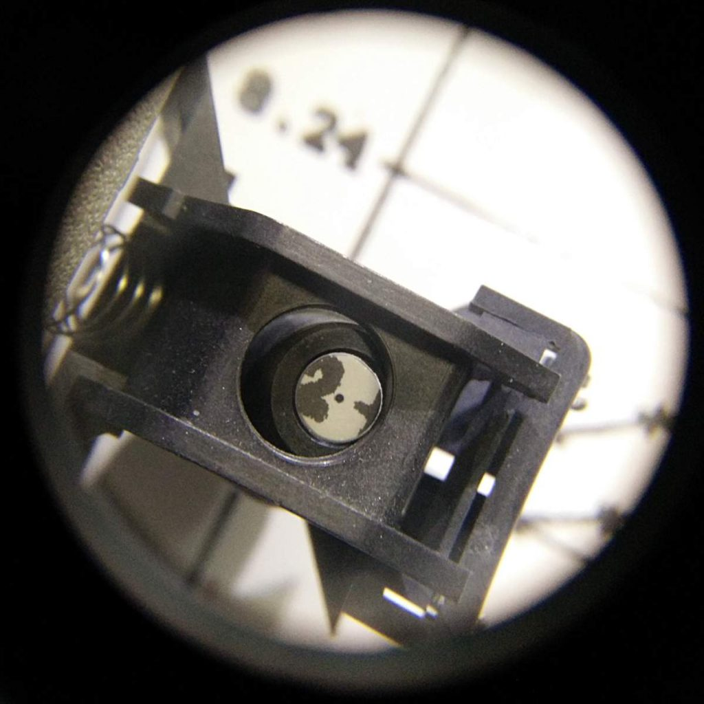 Drafting sight near an axis label