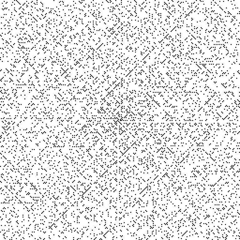 Ulam Spiral to 2¹⁶ #mathart