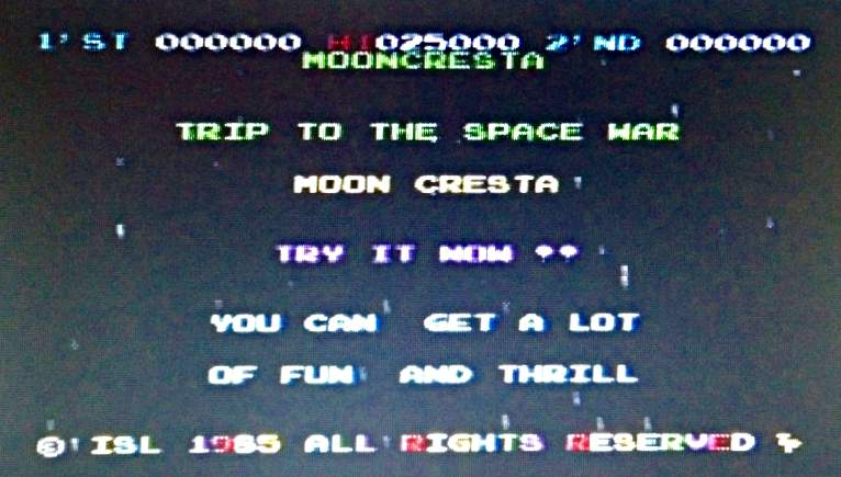 Moon Cresta - complete with authentic weird language