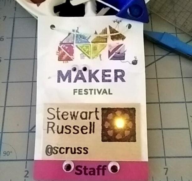 Volunteering at the Maker Festival this morning #soldering #magicsmoke #makerfestivalto #cantgetthestaffthesedays