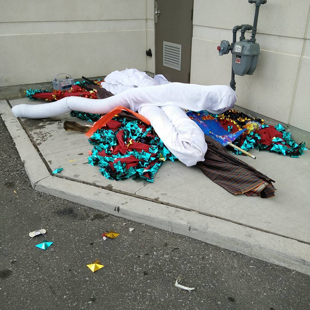 The morning after the parade.