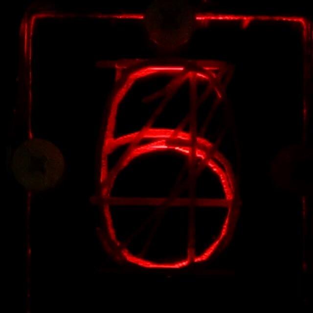 Edge-lit numerals, manual demo