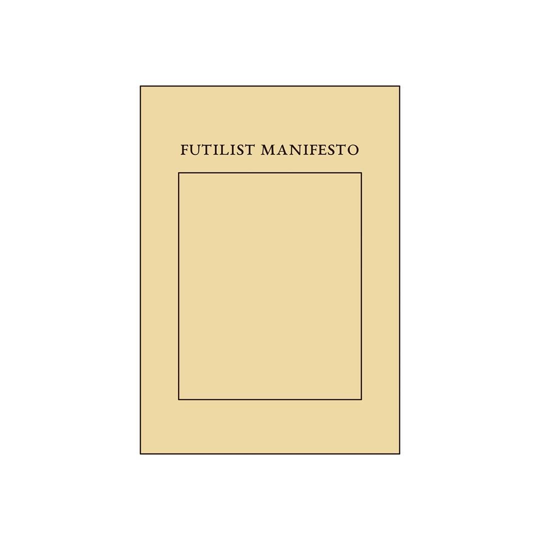 The only surviving copy of the Futilist Manifesto