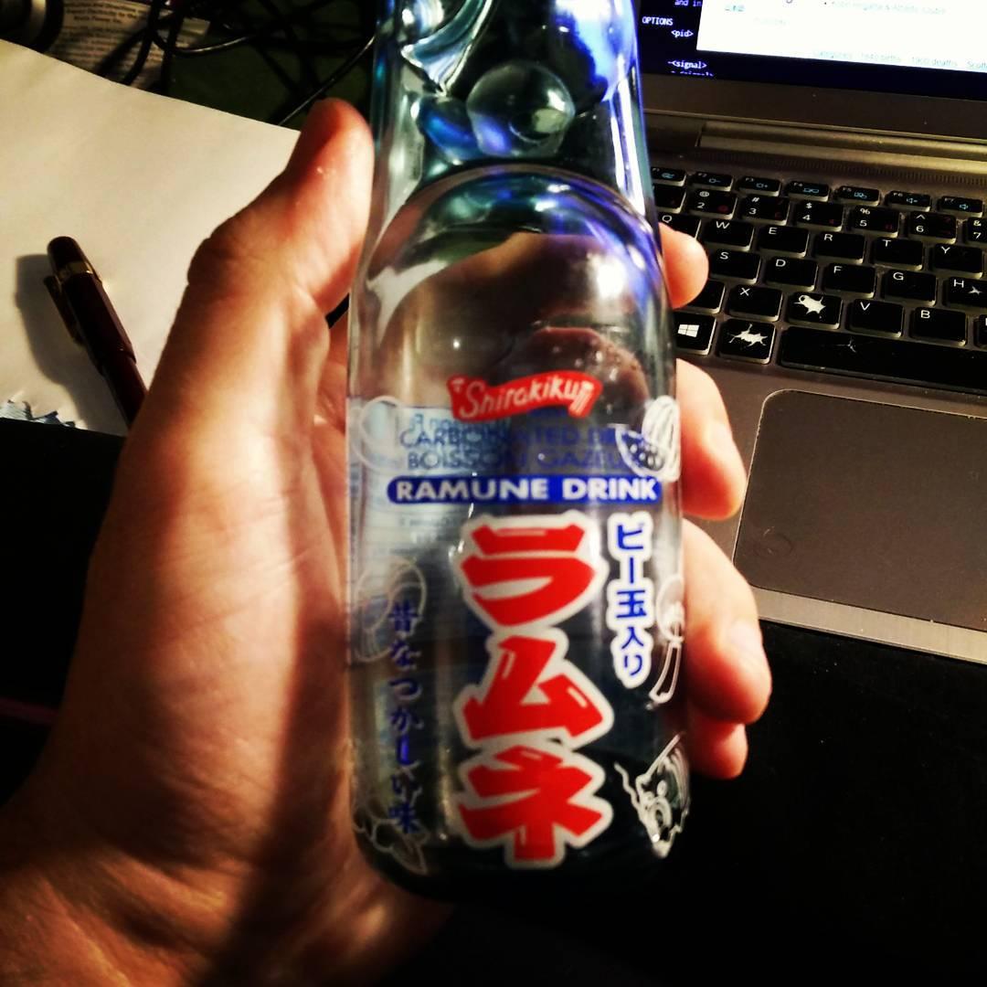 Shirakiku Ramune tastes surprisingly like Irn Bru