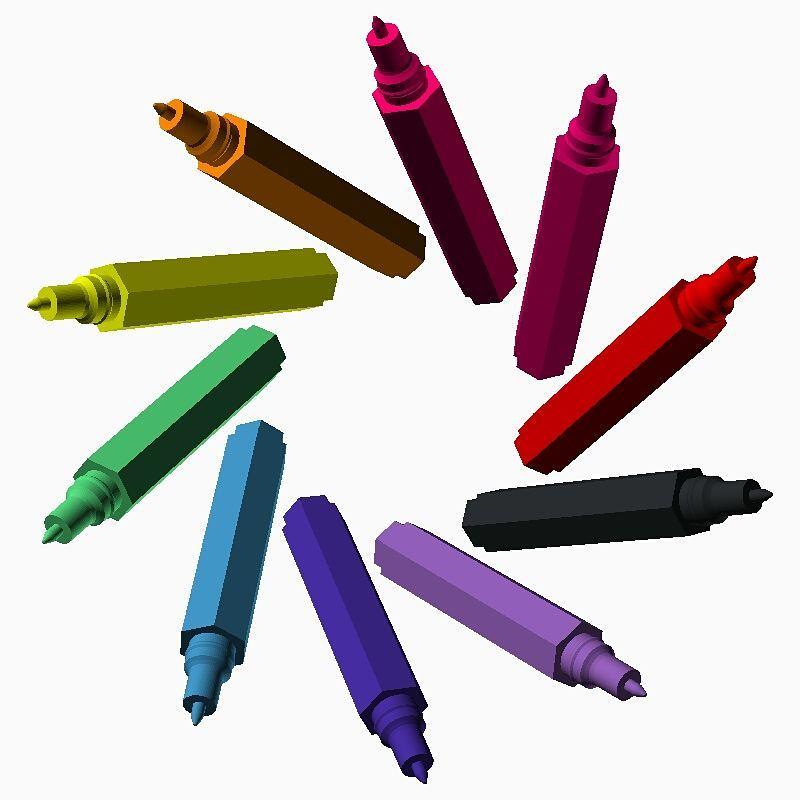 colouring pen cascade