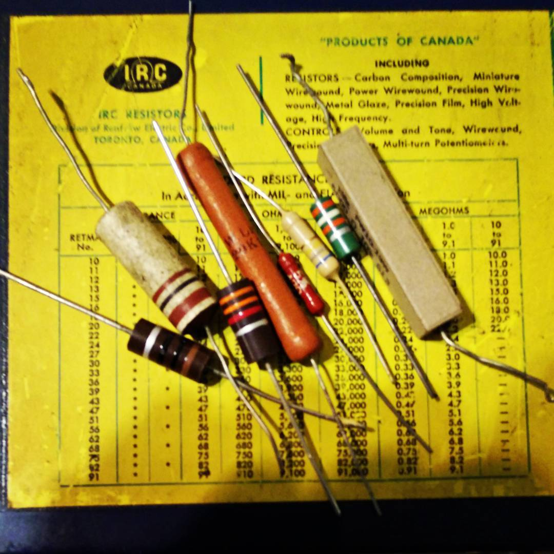 "I don't hold with that newfangled ""miniature resistor"" nonsense …"