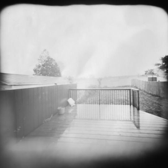 Pinhole pic taken during a storm, 2003