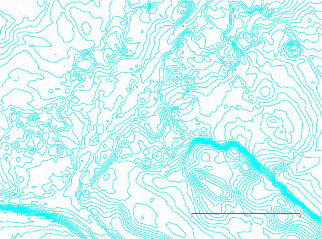 Great Fencote 10 cm contours, 50 m scale