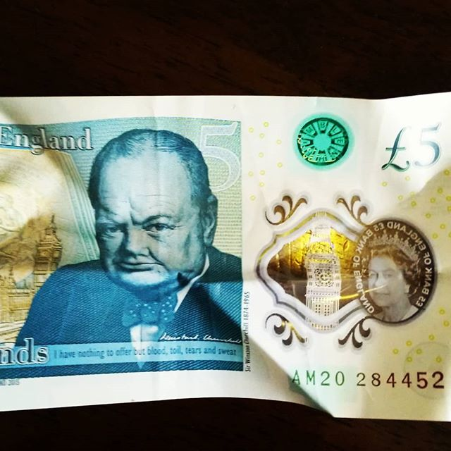 A wee English fiver featuring a particularly grumpy Mekon