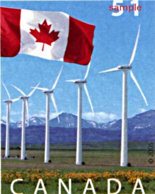 51c wind turbine stamp