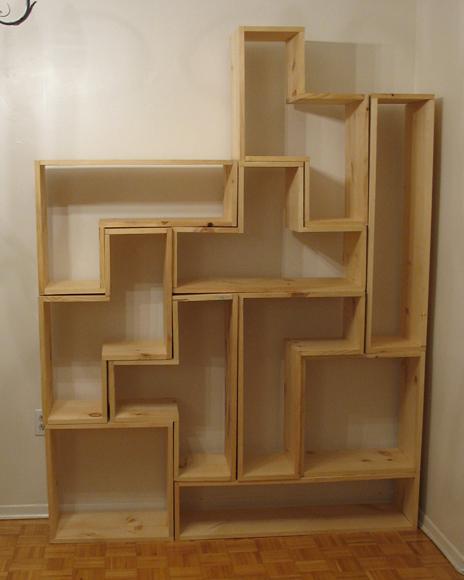 How to make tetris shelves