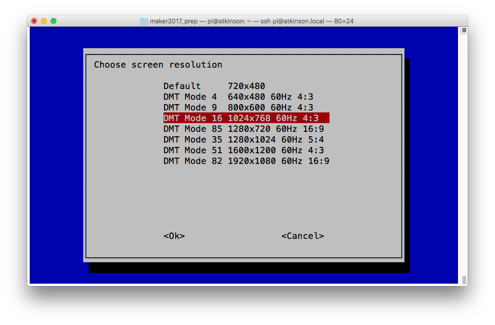 Headless Raspberry Pi + VNC: useful resolution – We Saw a