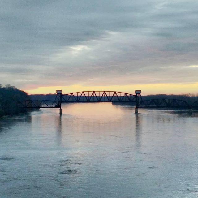 Sunset over the Missouri