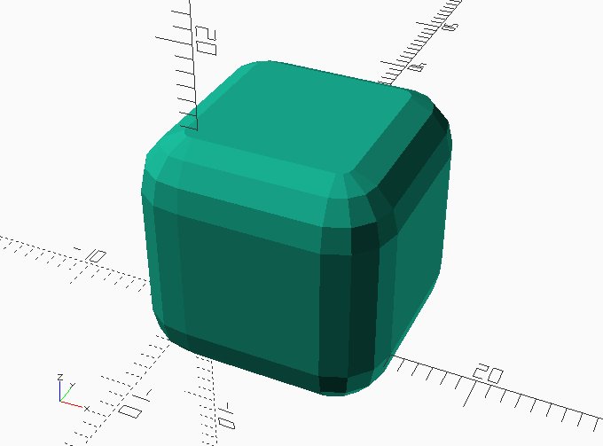 Symmetric chamfered extrusion in OpenSCAD – We Saw a Chicken …